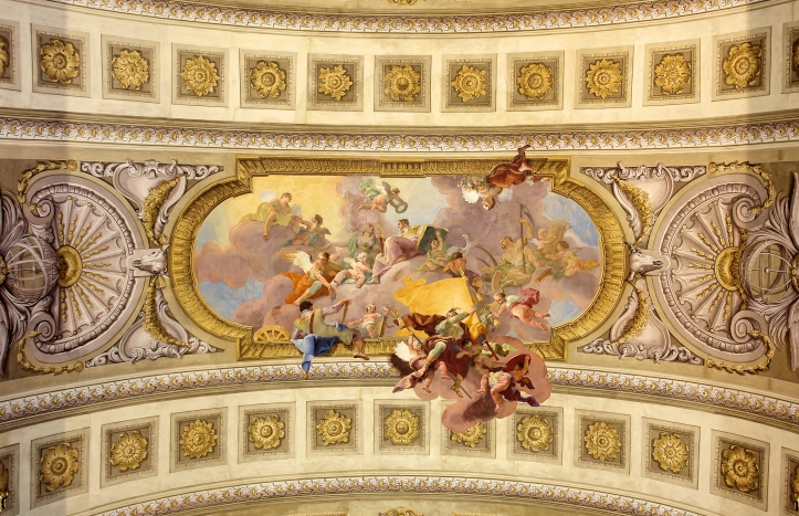 Allegory of war and Law - Prunksaal - Austrian National Library
