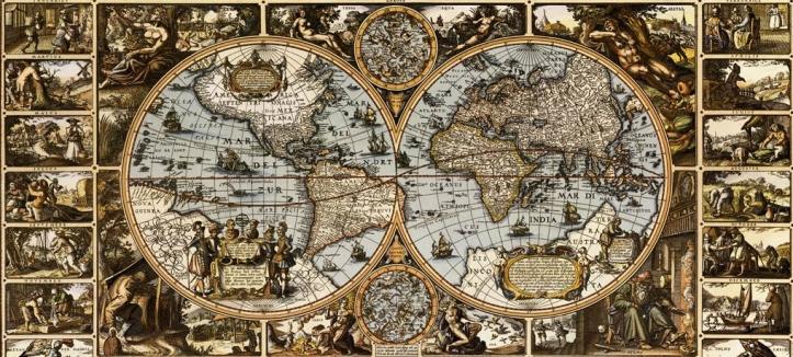 Nicolaus Ioannis Vischerius Magna Carta Mundi 1670 Miguel Olmedo Morell