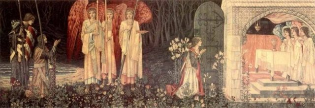 Vision of the Holy Grail 1890 Museum and Art Gallery of Birmingham William Morris